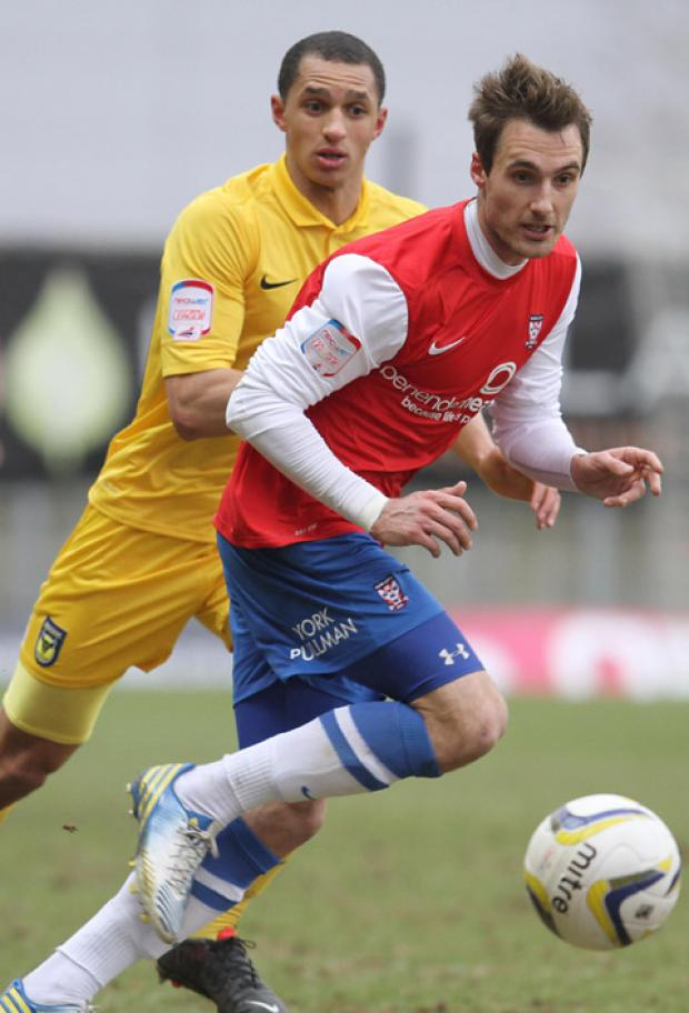 Alex Rodman put in the hard yards for York City