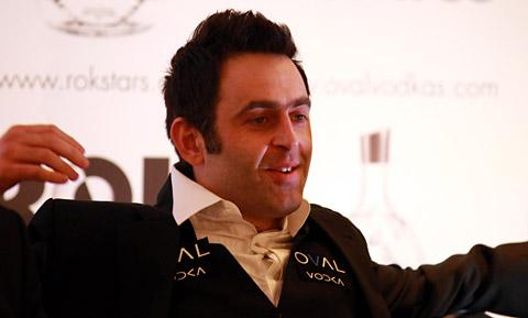 A relaxed Ronnie O'Sullivan faces  the media at his   press conference