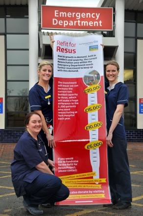 Pictured outside York Hospital's emergency department are, from left, Dr Janine Vermeulen, consultant, Sister Lynsey Duck and Sister Jane Storey