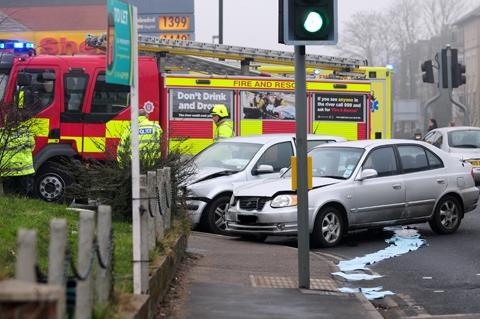 Two car accident disrupts traffic in York