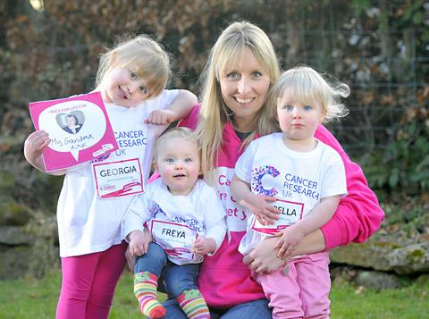 Jenny Murgatroyd with daughters, from left, Georgia, four, Freya, one, and Isabella, two. Picture: Richard Walker/ImageNorth www.imagenorth.net