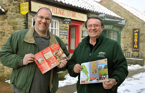 Rodge Dowson, left, from Beck Isle Museum in Pickering, and Kevin Simms, director of Ryedale Folk Museum in Hutton-le-Hole,  who are joining together to  promote both museums