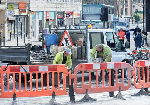 Roadworks in York