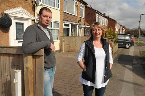 Highthorn Road residents Mike Rawding and Julie Richmond who are angry over sewage problems