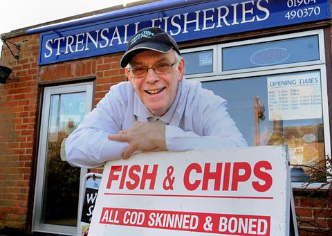 Martyn Oldroyd who has been selling fish and chips in Strensall for 30 years