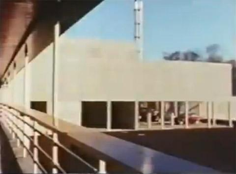 Archive footage shows construction of York university