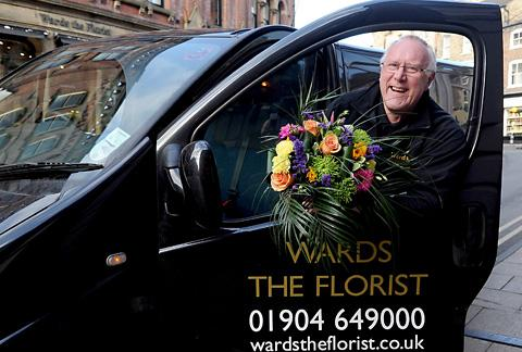 Glyn Whitaker, 69, has delivered 50,000 bouquets for Wards The Florist
