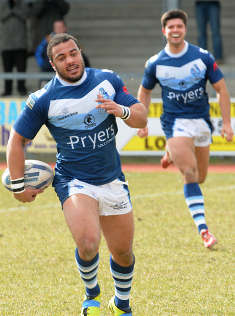 York City Knights 24, Featherstone 16
