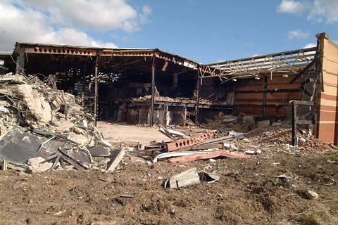 Demolition work starting on the old Abbey Leisure Centre in April last year