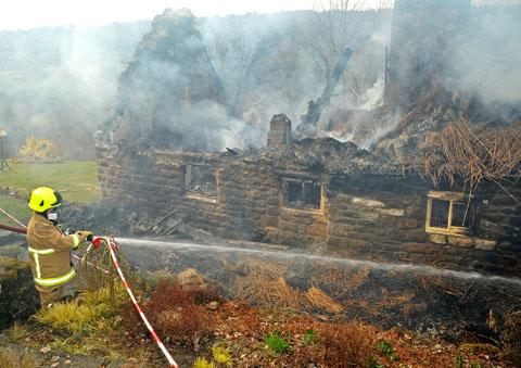 500 year old Ryedale cottage destroyed by fire