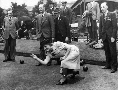 York Press: Edna Annie Crichton, the Lord Mayor of York, plays bowls in August 1942