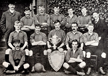 York Press: The Rowntree football team in 1902. David Sprunt Crichton, Edna Annie's husband, is seated in the second row, second from right
