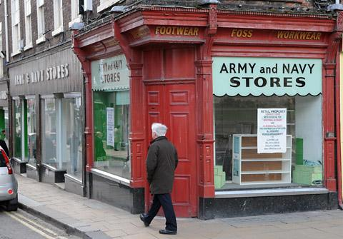 The Army and Navy Stores at the top of Fossgate, which is to become a brasserie, bar and coffee house