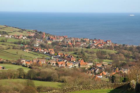 York Press: The outstanding view across Robin Hood's Bay which you can enjoy on this cycle ride