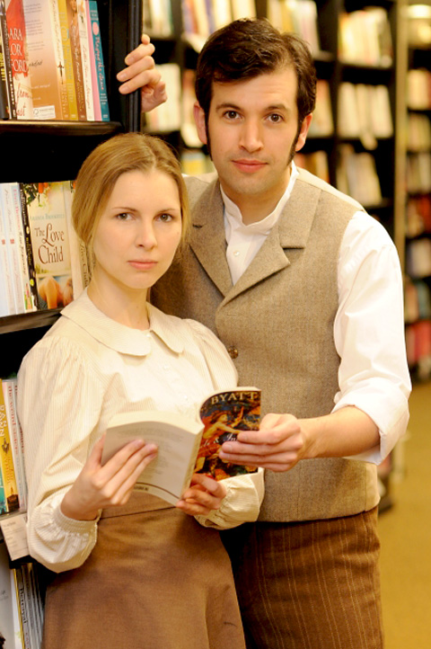 Theatre Royal actors Joanna Hickman and Jonathan Race in Angels And Insects