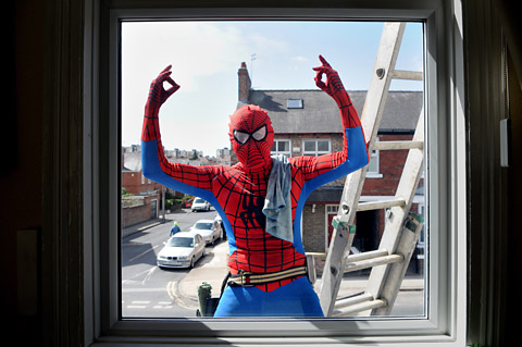 Spiderman's fight against grime in York