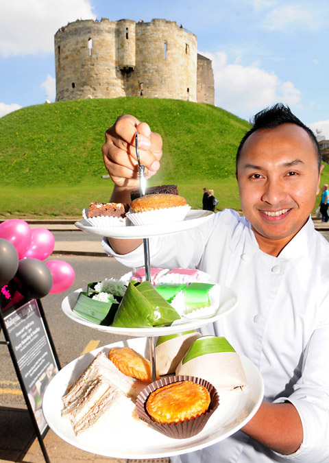Ning chef Norman Musa with his Malaysian High Tea