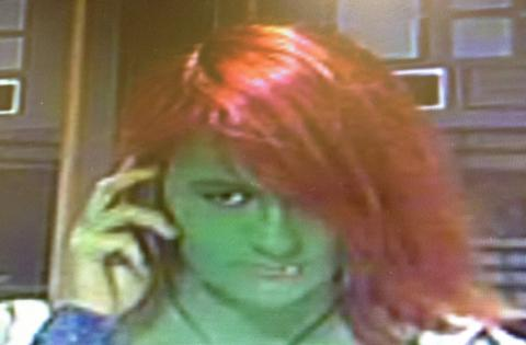 Incredible Hulk attack suspect hands herself in