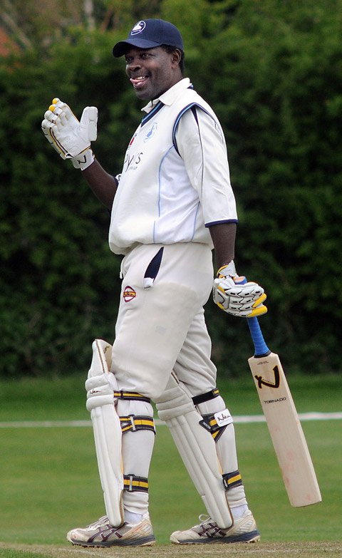 Former West Indies batsman Collis King was unable to stir D