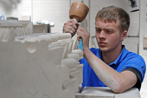 Rotary Club of York Vikings buys tools for stonemason