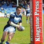 Ben Johnston marks his  second York City Knights debut with a try...