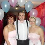 At the ball for Mesothelioma UK are, from left, Fran Milner, Howard Bonnett and Amanda Miller