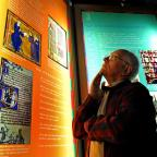 Dean Whitehouse, former church warden at Holy Trinity, admires exhibits at the Monks of Micklegate exhibition.