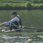 Anne Homa en route to her  silver medal in the women's class 'C' single sculls