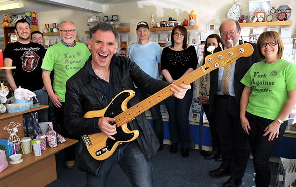 Emmerdale actor Tony Audenshaw entertains at an event at the York Against Cancer shop in Huntington where much-needed funds are raised