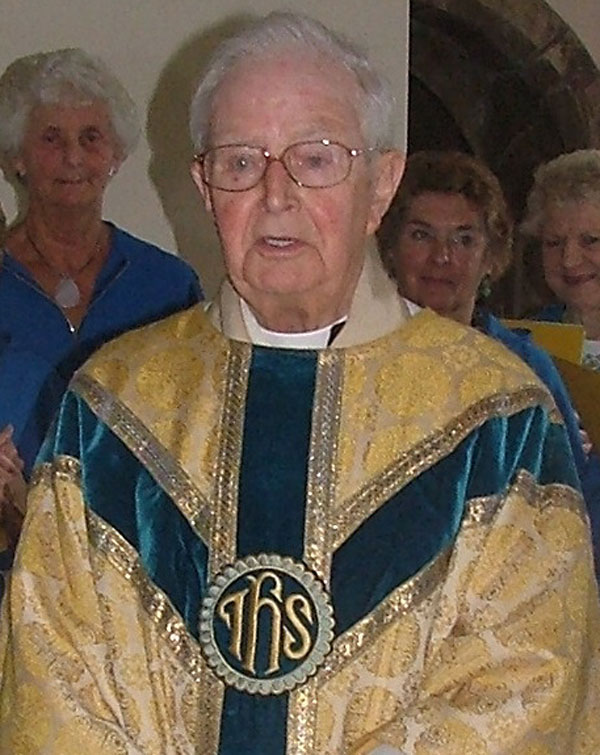 The Rev Leonard Melling,  pictured after celebrating Holy Communion in Osbaldwick for the last time on his 95th birthday