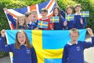 Sheriff Hutton Primary School Pupils getting in the mood for their week long trip to Gothenburg, Sweden