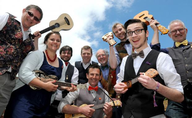 Members of The Grand Old Uke Of York take part in last year's Ukulele Festival