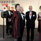 York Press: Princess Anne talks to Dr Helena Daffern, with the Royal Academy of Engineering president, Sir John Parker, second left, and Prof Brian Cantor, the University of York's Vice-Chancellor, in a surround sound area at the exhibition