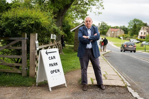 James Fearnley, who has had to pay £40,000 and a further £2,500 a year to allow cars to cross approximately eight feet of Duchy land into his car park at Goathland