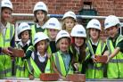 Knavesmire Primary School pupils lay bricks for final phase of building project