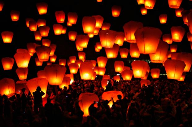 Chinese lanterns, which  farmer Roger Hildreth would like to see banned