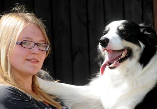 York Press: Lisa Locker and her dog Jake prepare for Thompsons Country Store Pet Show