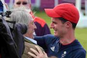 WELL DONE, SON: Peter Wilson celebrates with dad Charles