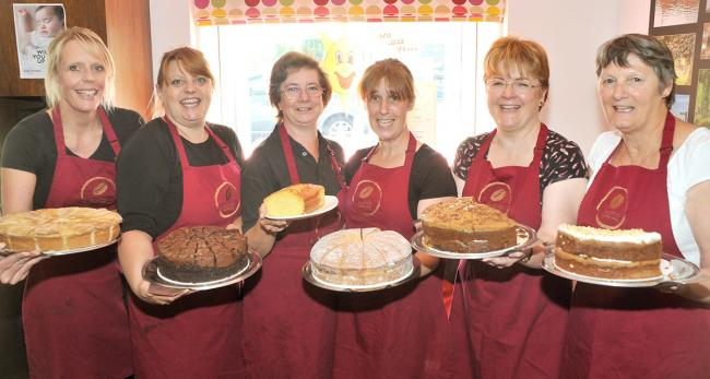 Staff and volunteers at the Aroma Café in Haxby; from left, Katrina Maddison, Helen Windass, Sandra Goodhall, Rachel Allen, Jackie Thompson and Gill Holman.