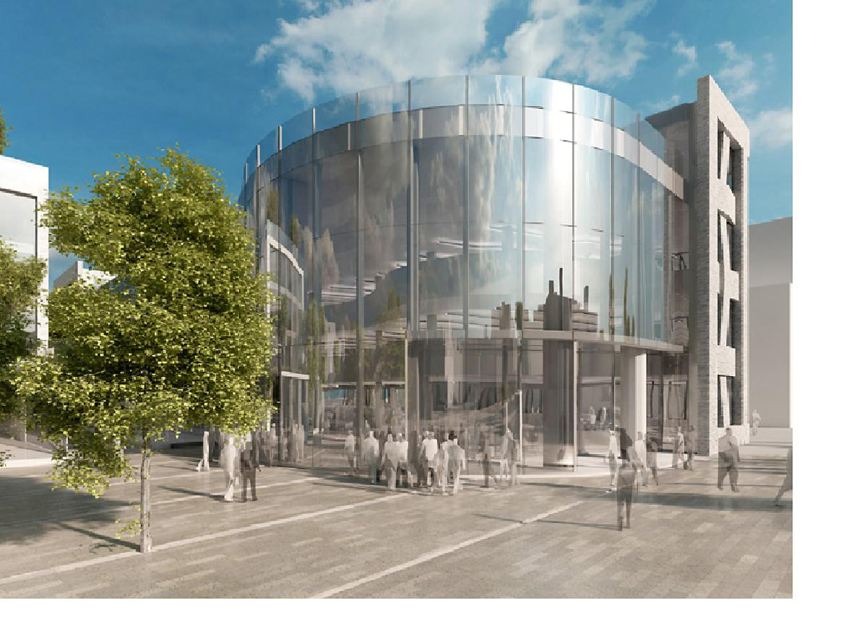 An artist's impression of the  proposed Hiscox building