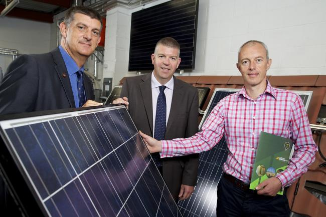 From left, Martin Bell, corporate director of RedSky; Ian Atkinson, Finance Yorkshire investment director and Mark Duncan, Duncan Renewables managing director