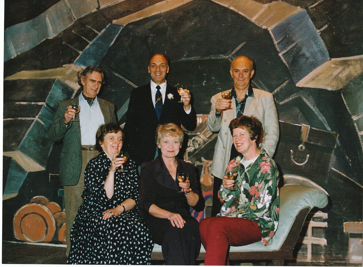 York Press: Alan Ayckbourn, back right, toasts