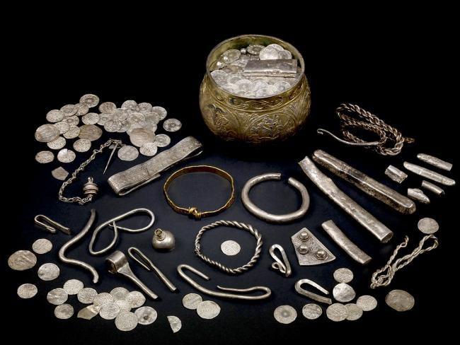 The Vale of York viking hoard, which is going on show at the British Museum