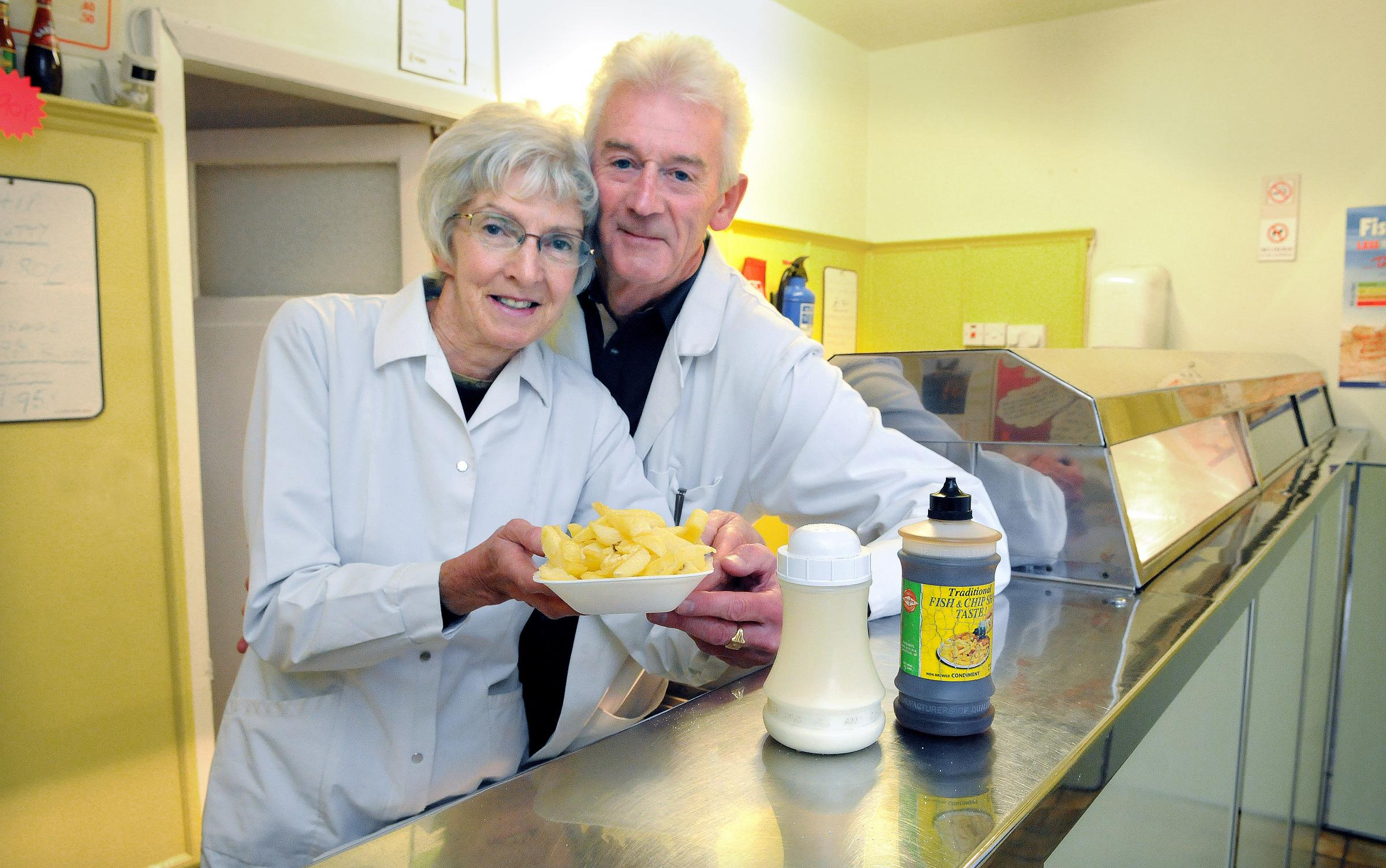 Tony and Margaret Potts, have manned the counter at Tony's Plaice