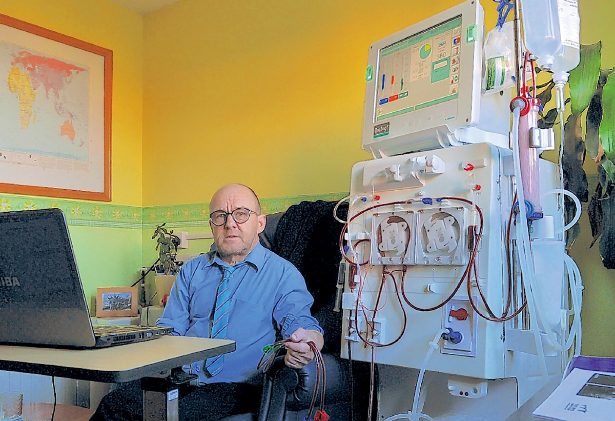 Mark Hallam, the Dialysis Games founder, at his home in Clifton, York