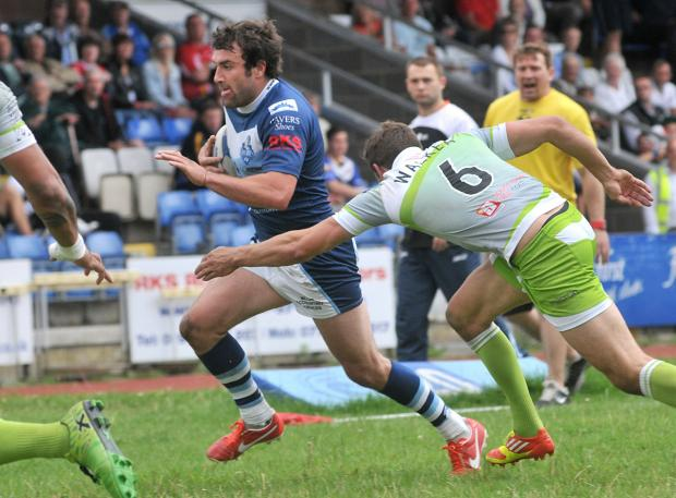 York City Knights' James Ford, pictured in action against Sheffield in the Championship last  season, will make his first appearance of pre-season against the Eagles tomorrow