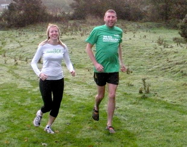 Rob Duddington out training with running mate Kate Hack