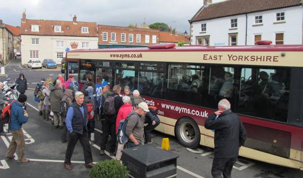 The last day of the Moors Bus, stopping off at  Helmsley. Picture supplied by letter writer