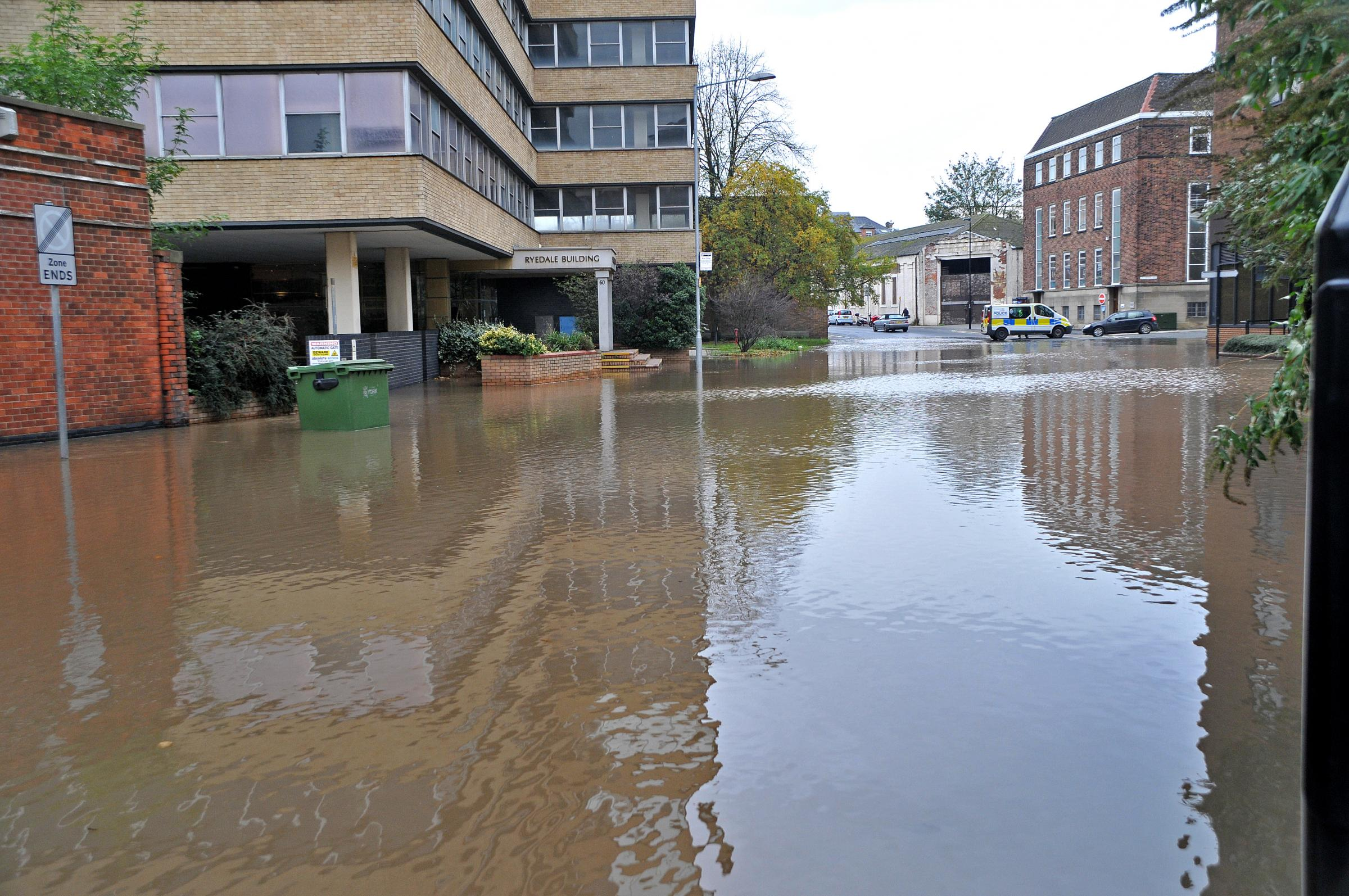 Burst water-main flooded York city-centre streets