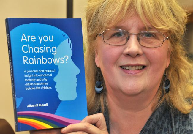 Rita Leaman, aka Alison Russell, with her new book Are You Chasing Rainbows?